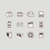 Multimedia icons set Royalty Free Stock Images