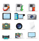 Multimedia icons set Stock Images