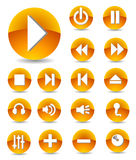 Multimedia icons set stock illustration
