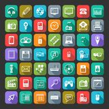 Multimedia icons set. Vector. royalty free illustration