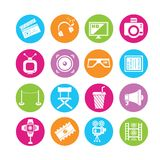 Multimedia icons Stock Images