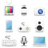 Multimedia icons Stock Photos