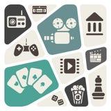 Multimedia icons Stock Image
