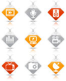Multimedia icons Stock Image