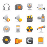 Multimedia Icons | Yellow 08 Royalty Free Stock Photography