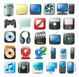 Multimedia-Ikonen Stockbilder