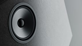 Multimedia kevlar speaker system with different speakers closeup over black background 3d render. Multimedia kevlar speaker system with different speakers Stock Photography