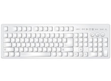 Multimedia keyboard. White vector pc multimedia keyboard without text and symbols Stock Images