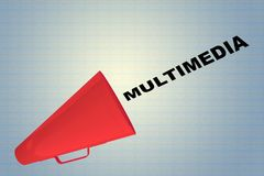 MULTIMEDIA - kommunikationsbegrepp Fotografering för Bildbyråer