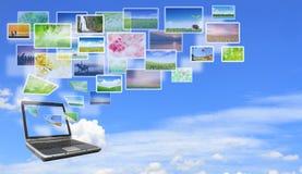 Multimedia laptop Royalty Free Stock Photo