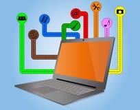 Multimedia laptop Stock Photography