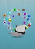 Multimedia laptop Stock Images