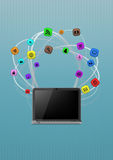 Multimedia laptop Stock Photos