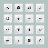 Multimedia media centre icons Stock Images