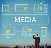 Multimedia Media Entertainment Communication Connection Concept royalty free stock photos