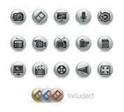 Multimedia // Metal Button Series Stock Photography