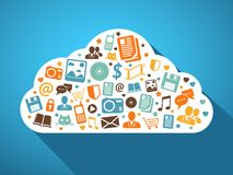 Multimedia and mobile apps in the cloud Royalty Free Stock Image