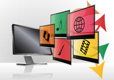 Multimedia monitor Stock Image