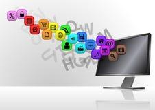 Multimedia monitor Royalty Free Stock Photo