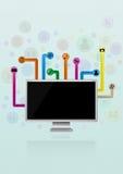 Multimedia monitor Stock Photos