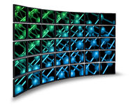 Multimedia monitor wall Royalty Free Stock Photography
