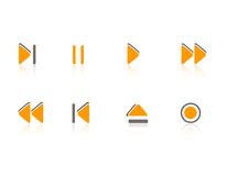 Multimedia / Music icons set. Stylish Music / Audio Player icon set Royalty Free Stock Photo