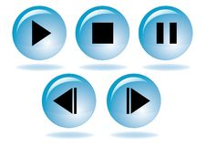 Multimedia navigation icon set Royalty Free Stock Photo