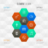 Multimedia Outline Icons Set. Collection Of Cover, Stringed, Audio Level And Other Elements. Also Includes Symbols Such Royalty Free Stock Photography