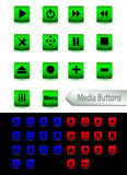 Multimedia Player Buttons Stock Image
