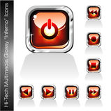 Multimedia Player Icons set Royalty Free Stock Photography