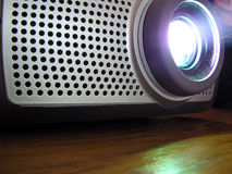Multimedia projector. Running stock image