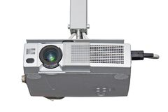 Multimedia projector. Isolated on white background, including clipping path stock images