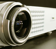 Multimedia projector. Lens Stock Photo