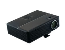 Multimedia Projector. Multmediyny projector on a white background stock photos