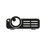 Multimedia projector vector icon. On white background Stock Photography