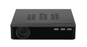 Multimedia projector. On white background stock image