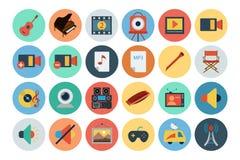 Multimedia sänker symboler 5 Arkivfoton