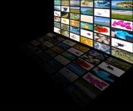 Multimedia screen Stock Photography