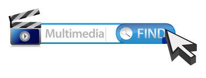 Multimedia search bar Stock Image