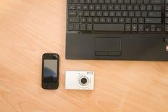 Multimedia Set. Laptop , Mobile , Camera royalty free stock photos