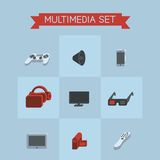 Multimedia set icons Royalty Free Stock Photo
