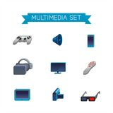 Multimedia set icons Royalty Free Stock Photography