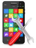Multimedia smartphone tools Royalty Free Stock Image