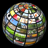 Multimedia sphere Stock Photo