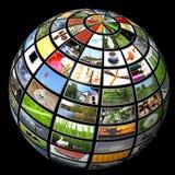 Multimedia Sphere Stock Photo