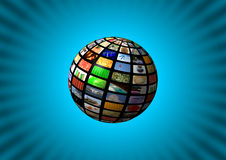 Multimedia sphere background Royalty Free Stock Images