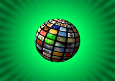 Multimedia sphere background Stock Images