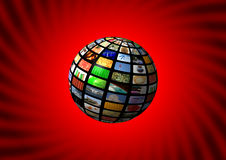 Multimedia sphere background Stock Photography