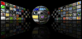 Multimedia sphere Royalty Free Stock Photo