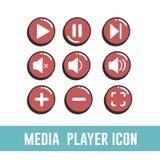 Multimedia-Spieler-Ikone Stockfotos